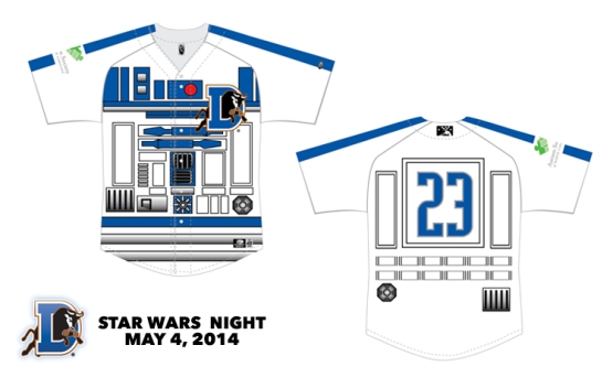 Durham Bulls Star Wars Jerseys