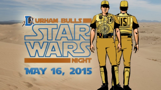 Durham Bulls Star Wars Uniforms
